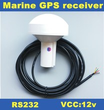 NEW 12V,GPS receiver,RS232,RS-232,boat marine GPS receiver antenna with module,Mushroom-shaped case,4800 baud rate,GN2000R(China)