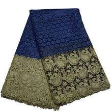 2016 New Design African Guipure Cord Lace Fabric High Quality Tow Color African Lace Fabric For Sewing(China)