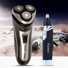 Rechargeable Shaver Electric Shaving Machine Stainless Steel Blade Nose Hair Trimmer Ear Hair Remover for Men&Women Face Clean