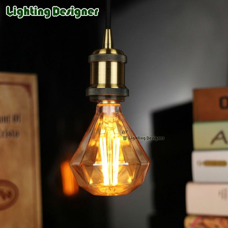 LED edison light bulb pendant lamp diamond glass shape 110V-220V 4W stylish decor bulb DIY lamp LED vintage lamp bulb<br><br>Aliexpress