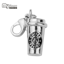 Buy shape Zinc Alloy Charms Jewelry Making 3D Coffee Cup Charm fit DIY Bracelet Necklace Diy Jewelry Coffee Maker 20pcs for $8.10 in AliExpress store