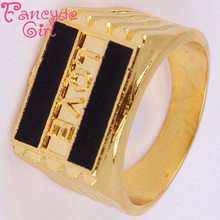 "Fancyde Girl Brand New Products Hot Selling ""L O V E "" Font Bottom Of The Resin Gold Color Rings Men Free Shipping Wholesale"