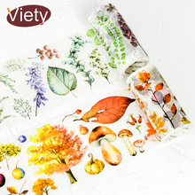 5cm*9m Beautiful plants autumn leaves washi tape diy decoration for scrapbooking masking tape adhesive tape kawaii stationery
