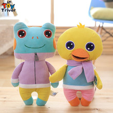 Cartoon plush animal zoo toys dog cat rabbit bear frog deer duck doll birthday gift for baby kids children home decor Triver