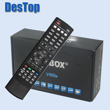 1pc Original V8Se Digital Satellite Receiver AV HD Output with USB Wifi WEB TV Biss Key 2xUSB CCCAMD NEWCAMD(China)