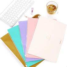 Lovely smile large Zipper bag Bills / data storage Document Bag PU Cortex File Folder Stationery Filing Production