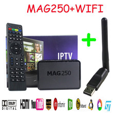 FineFun HDD Player Set Top Box Mag 250 Linux System Iptv Mag250 STi7105 Mag250 Linux TV Box + Usb Wifi 256M Same With Mag254