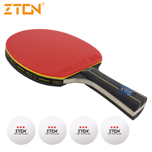 Brand Quality Table tennis racket Ddouble Pimples-in rubber Ping Pong Racket tenis de mesa table tennis(China)