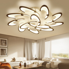 LICAN Acrylic Modern Led Chandeliers For Living Study Room Home Dec White lustre plafonnier Chandelier Fixtures verlichting