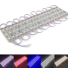 100pcs DC 12V SMD5050 3 LED Module Waterproof IP65 LED Sign Backlight Modules Advertising Light Box Modules