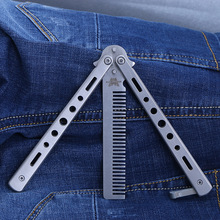Practice Butterfly Knife Trainer Training Folding Knife Dull Tool Outdoor Camping Knife Comb