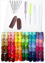 New Needle Wool  Felting Starter Kit Wool Felting Tools Mat + Scissors + Needle Craft