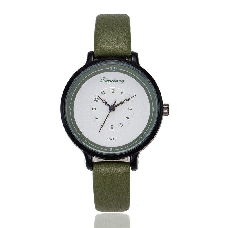 2018 High Quality women fashion casual watch luxury dress ladies Leather Band Analog Quartz Wrist Watch Clock relogio J13#N (5)