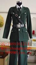Anime Axis Powers Hetalia England Military Uniform APH Britain Arthur Cosplay Costume Any Size