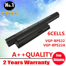 Wholesale New 6 cells Laptop battery for SONY  VAIO VPC-E Series  VGP-BPS22  VGP-BPS22A Free shipping