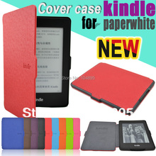 The lightest cheap slim smart leather cover case protective case for Amazon kindle paperwhite Wifi free stylus and screen gift(China)