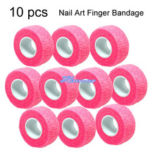 10 PCS ROLL TAPE FLEX WRAP FINGER BANDAGE NAIL ART SALON CARE TOOLS SET - PINK