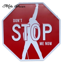 [ Mike Decor ] Dont STOP ME NOW Vintage Classic Public painting Retro Gift Irregular sign Hotel Bar decor YB-820 Mix order