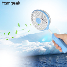Homgeek Portable USB Rechargeable Fan Handheld Sports Fan with Flexible Neck Adjustable Speed Air Conditioner for Home Office