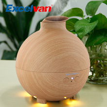 Excelvan 500ML Ultrasonic Humidifier Essential Oil Aroma Diffuser Aromatherapy Air Purifier Mist Maker Light Woodgrain 20006A(China)