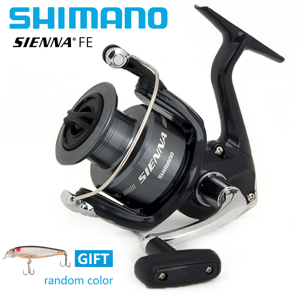 Shimano Sienna FE  5.0:1/5.2:1 Spinning Fishing Reel 1+1BB Front Drag XGT7 Body Saltewater Carp Fishing Reel With Free Gift <br>