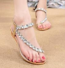 Buy 2017 Summer Sandals Bling Rhinestone Flats Women Platform Wedges Sandals Fashion Flip Flops Comfortable Beach Shoes Woman for $11.74 in AliExpress store