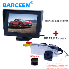 "car rearview camera and monitor kit bring 4.3""Foldable car screen monitor +shock-proof 4 IR lens  Suitable for FIAT freemont"