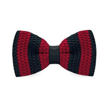 LF-333 Fashion New Arrival Knitted Crochet Men`s Bowties Adjustable Red & Black Striped For Men Party Bussiness Free Shopping