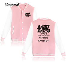 For I FEEL LIKE PABLO 2017 Baseball Jackets Casual Rock Sweatshirts Hoodies Kpop Men/Women Coat Clothes Plus Size 4xl wangcangli(China)