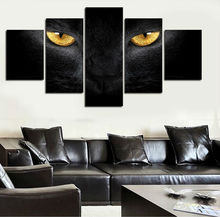 5 Pcs Framed art Of Wall Art HD Wolf Eyes Modern Picture Print On Canvas Home Decoration For Living Room Canvas Painting W/1084(China)