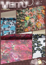 100% Silk fabric chiffon for dress scarves print,color:as pictures,width:130cm,thickness:5-6mm,sell by 3m(China)