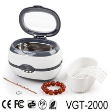 Eyeglass Ultrasonic Cleaner tank denture Cleaning machine 600ml for watch, jewelry,lens, baby items cleaning VGT-2000