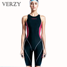 2017 Professional swimwear Sharkskin Women Sportwear knee length Bodysuit Athletic Swimsuit ladies swimming Competition swimsuit