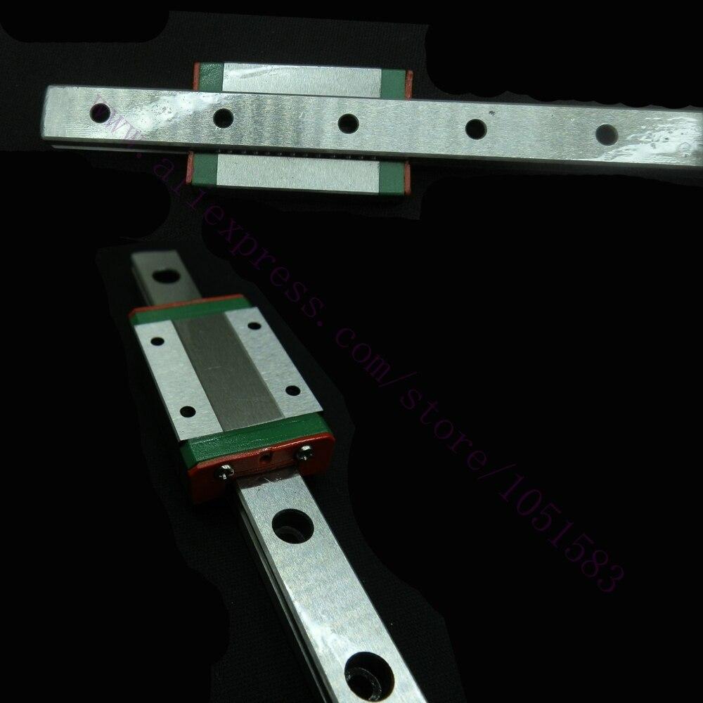 DHL Ship, Kossel Mini MGN12 12mm Miniature Linear Rail Slide 2pcs 12mm L-400mm rail+2pcs MGN12H carriage for 3D Printer CNC<br><br>Aliexpress