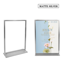 2PCS A4 Double-sided Advertising desktop Display Stand menu catalog brand clothing product information poster Display Rack(China)