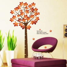 Maple Tree Removable Decorative Vinyl Wall Stickers Quote Decals Paster Pegatinas De Pared Kids Room Sofa Home Wall Decoration