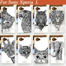 Buy hot new fashion diy 3d painted white black animals Mobile Phone Hard Plastic Cover Case Sony Xperia L S36h C2105 C2104 for $1.56 in AliExpress store
