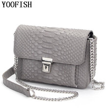 2017 Brand Genuine Leather Women Bag Fashion Women bag Classic Lock Chains Shoulder Bag Soft Leather Crossbody Bag LJ-0638(China)