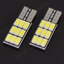 2PCS Super Bright T10 168 194 W5W 9 LED 5630 SMD Xenon White Car Auto Light Source Wedge Side Parking Lamp Bulb 5730 DC12V