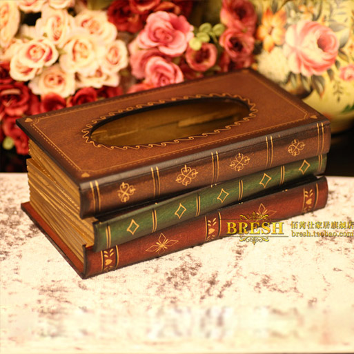 Free shipping,Long-26cm,Wooden print tissue box fashion derlook rustic.home decorative,(China)