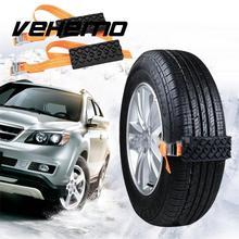 Vehemo Mud Chain Strap Snow Chain Rubber Nylon 2PCS Universal Tire Automobile Winter Belt(China)