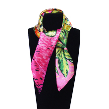 Imitated Silk Euro Style Oil Paintting Flower Printed 60cm*60cm Lady Square Scarf Woman Headband Hijab