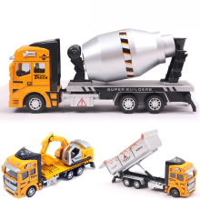 3 Style Mini Diecasts Car Alloy Construction Vehicle Engineering Car Truck Tractor Model Classic Cheap Toys For Boy kids Gift(China)