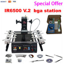 Promotion price low cost LY IR6500 V.2 machine infrared bga rework station with bigger preheat area ,6 pcs BGA jigs