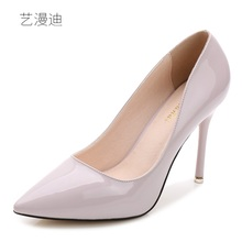 2018 Plus Small Size 31-43 Patent Leather Sexy High Heels for Women's Pumps with Shoes Woman Wedding Dress Ladies Party Evening(China)