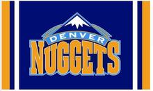 Denver Nuggets flag 3ftx5ft Banner 100D Polyester Flag metal Grommets , free shipping(China)