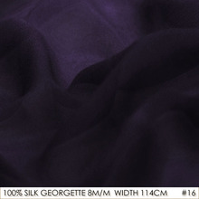 SILK GEORGETTE 114cm width 8momme/100% Pure Silk Georgette Fabric Manufacturer Direct Sale Deep Purple NO 16 Wholesales
