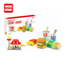 Wisehawk nanoblocks delicious McDonald's luxury combo action figures Safe Building Blocks bricks educational toys for kids.(China)