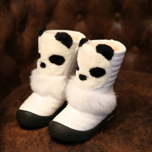 New Cartoon Children Snow Boots Rabbit Fur Thick Plush Girls Boots Winter Waterproof Snow Shoes Kids Gril Princess CSH061