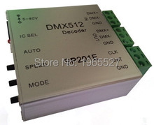 DC 5~40V SP201E DMX512 decoder (4 in 1) support WS2801/WS2811/LPD6803/8806/TM1812 etc.SPI Converter;512 channel, max 2048 pixels
